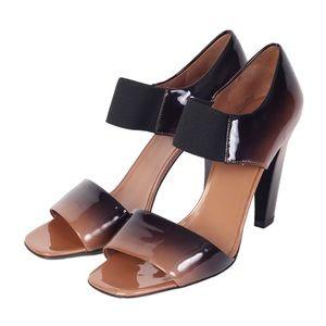 Prada ombré patent leather banana heels